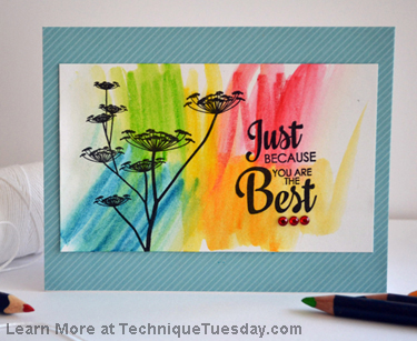 Technique Tuesday Clear Stamp Greenhouse Society
