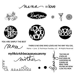 Technique Tuesday Clear Stamp - Mama=Love