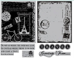 TPC Studio-Cling Stamp (large set)-Travel Collage
