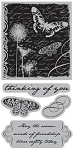 TPC Studio-Cling Stamp-Butterfly Collage