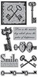 TPC Studio-Cling Stamp-Vintage Keys