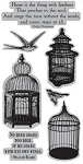 TPC Studio-Cling Stamp-Birdcages