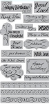 TPC Studio-Cling Stamp-Greetings