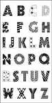TPC Studio-Clear Stamp-Pattern Alphabet