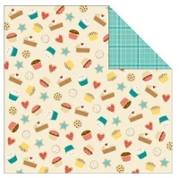 TPC Studio -Lets Eat Collection - 12X12 Paper - Bake Sale (with spot varnish)