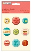 TPC Studio -Lets Eat Collection - Fabric Buttons