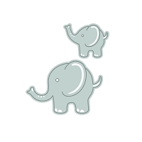 Tonic Studios - Cutting Die - Rococo Adorable Elephants