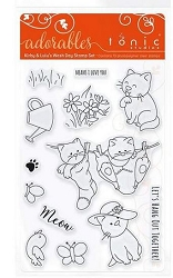 Tonic Studios - Clear Stamps - Adorables Kirby & Lulu's Wash Day