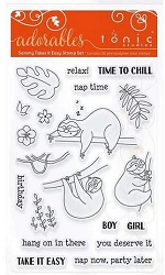 Tonic Studios - Clear Stamps - Adorables Sammy Takes It Easy