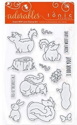 Tonic Studios - Clear Stamps - Adorables Scent Wiff Love