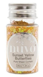 Tonic Studios - Nuvo Pure Sheen Confetti Sequins - Sunset Yellow Butterflies