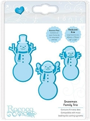 Tonic Studios - Rococo Cutting Die - Snowman Family Christmas Trio
