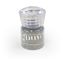 Tonic Studios - Nuvo Embossing Powder - Glitter Silver Moonlight
