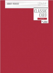 Tonic Studios - Craft Perfect Cardstock - Candy Red Classic Weave Texture 8.5
