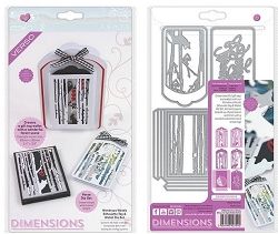 Tonic Studios - Dimensions Cutting Die - Wonderous Woods Sihouette Tag & Wallet Die Set