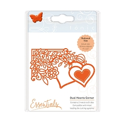 Tonic Studios - Cutting Die - Essentials Fanciful Florals Dual Hearts Corner die