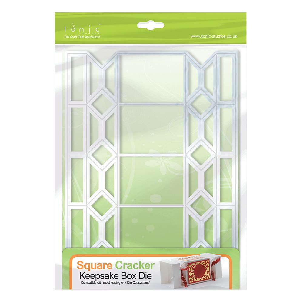 Tonic Studios - Cutting Die - Square Cracker Keepsake Box Die Set (requires  large base machine)