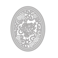 Tonic Studios - Cutting Die - Sew Pretty Home Sweet Home Oval Frame