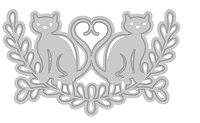 Tonic Studios - Cutting Die - Rococo Pampered Pets Love Cats