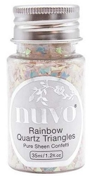 Tonic Studios - Nuvo Pure Sheen Confetti Sequins - Rainbow Quartz Triangles