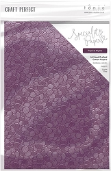 Tonic Studios - Craft Perfect Luxury Embossed paper - A4 Tropical Nights (8.25