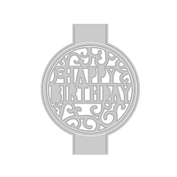 Tonic Studios - Cutting Die - Indulgence Pop-Up Sentiment Happy Birthday
