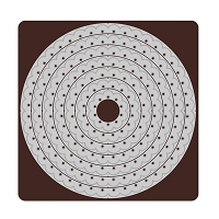 Tonic Studios - Cutting Die - Threaded Scallop Circle Layering Die Set