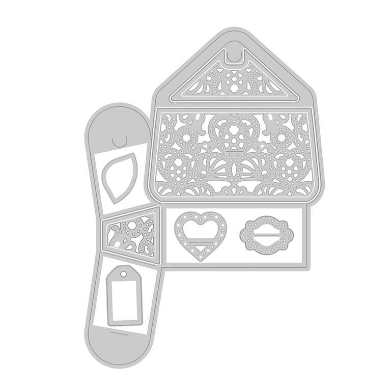 Tonic Studios - Cutting Die - Chelsea Shoulder Bag Gift Box Die