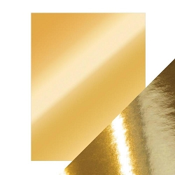 Tonic Studios - Craft Perfect Cardstock - Polished Gold 5 sheets Mirror High Gloss 8.5