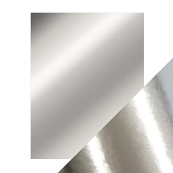 Tonic Studios - Craft Perfect Cardstock - Chrome Silver 5 sheets Mirror High Gloss 8.5