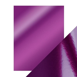 Tonic Studios - Craft Perfect Cardstock - Electric Purple 5 sheets Mirror High Gloss 8.5