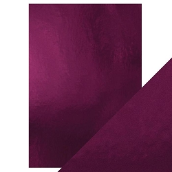 Tonic Studios - Craft Perfect Cardstock - Midnight Plum 5 sheets Mirror High Gloss 8.5