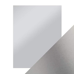 Tonic Studios - Craft Perfect Cardstock - Frosted Silver 5 sheets Mirror Satin Effect 8.5