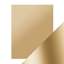 Tonic Studios - Craft Perfect Cardstock - Honey Gold 5 sheets Mirror Satin Effect 8.5