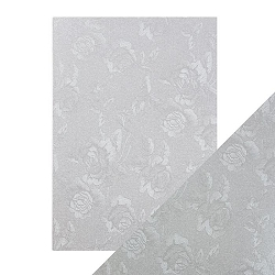 Tonic Studios - Craft Perfect Luxury Embossed Cardstock - A4 Steel Toile (8.25
