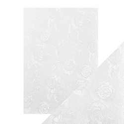 Tonic Studios - Craft Perfect Luxury Embossed Cardstock - A4 Ivory Toile (8.25