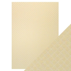 Tonic Studios - Craft Perfect Luxury Embossed Cardstock - A4 Champagne Harlequin (8.25