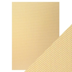 Tonic Studios - Craft Perfect Luxury Embossed Cardstock - A4 Golden Mosaic (8.25