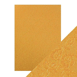 Tonic Studios - Craft Perfect Luxury Embossed Cardstock - A4 Honey Gold Roses (8.25