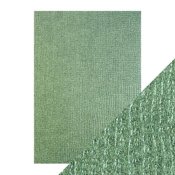 Tonic Studios - Craft Perfect Luxury Embossed Cardstock - A4 Emerald Hessian (8.25