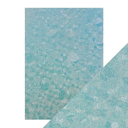 Tonic Studios - Craft Perfect Luxury Embossed Cardstock - A4 Powder Blue Lace (8.25