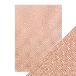 Tonic Studios - Craft Perfect Luxury Embossed Cardstock - A4 Salmon Harlequin (8.25
