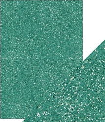 Tonic Studios - Craft Perfect Cardstock - 5 sheets Glitter Turquoise Lake 8.5