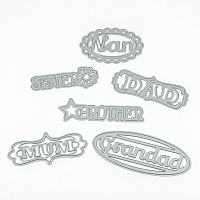 Tonic Studios - Cutting Die - Family Members Sentiments Set 1 (set of 6 dies)
