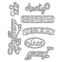 Tonic Studios - Cutting Die - Family Members Sentiments Set 2 (set of 7 dies)