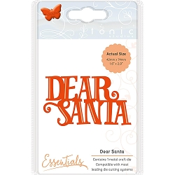 Tonic Studios - Essentials Cutting Die - Dear Santa Christmas Sentiment