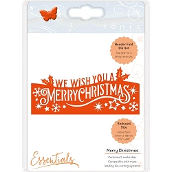 Tonic Studios - Essentials Cutting Die - Merry Christmas Header Fold*