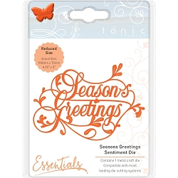 Tonic Studios - Essentials Cutting Die - Season's Greeting Sentiment Die