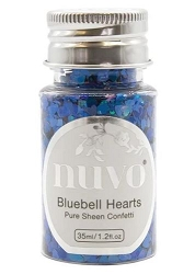 Tonic Studios - Nuvo Pure Sheen Confetti Sequins - Bluebell Hearts