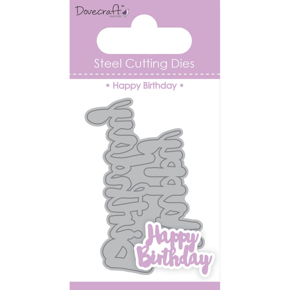 Dovecraft Metal Cutting Die /'Happy Birthday/'